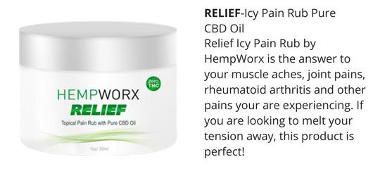 CBD Relief cream by hempworx