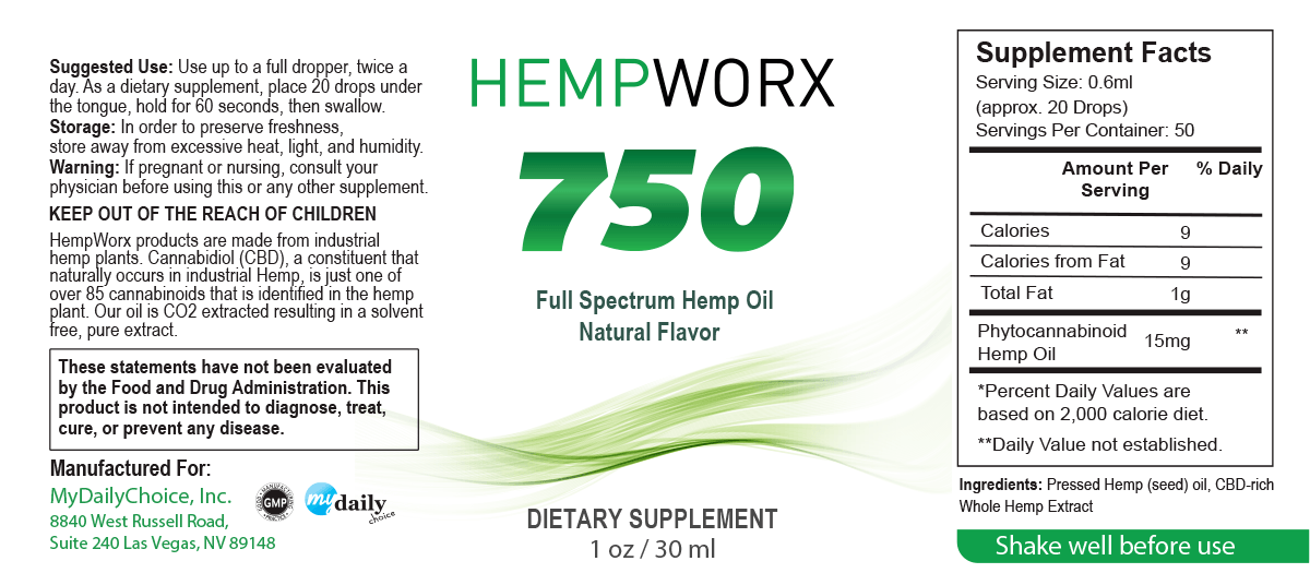hempworx 750 cbd oil directions
